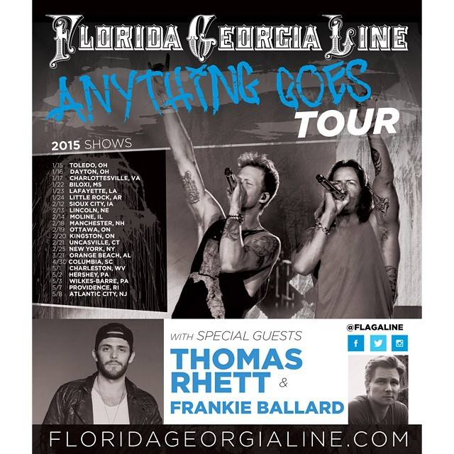 Anything Goes Tour Song List
